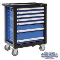 Filled tool trolley with 7 drawers - TW
