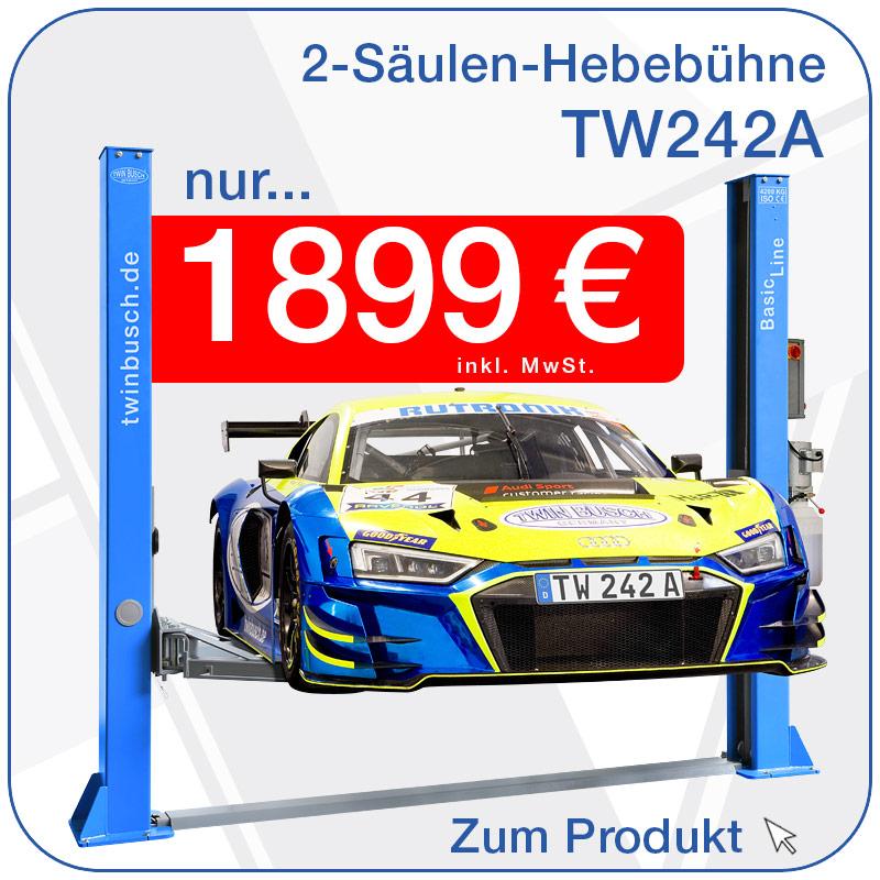 2-Säulen-Hebebühne TW 242A nur 1299€ inkl. MwSt.