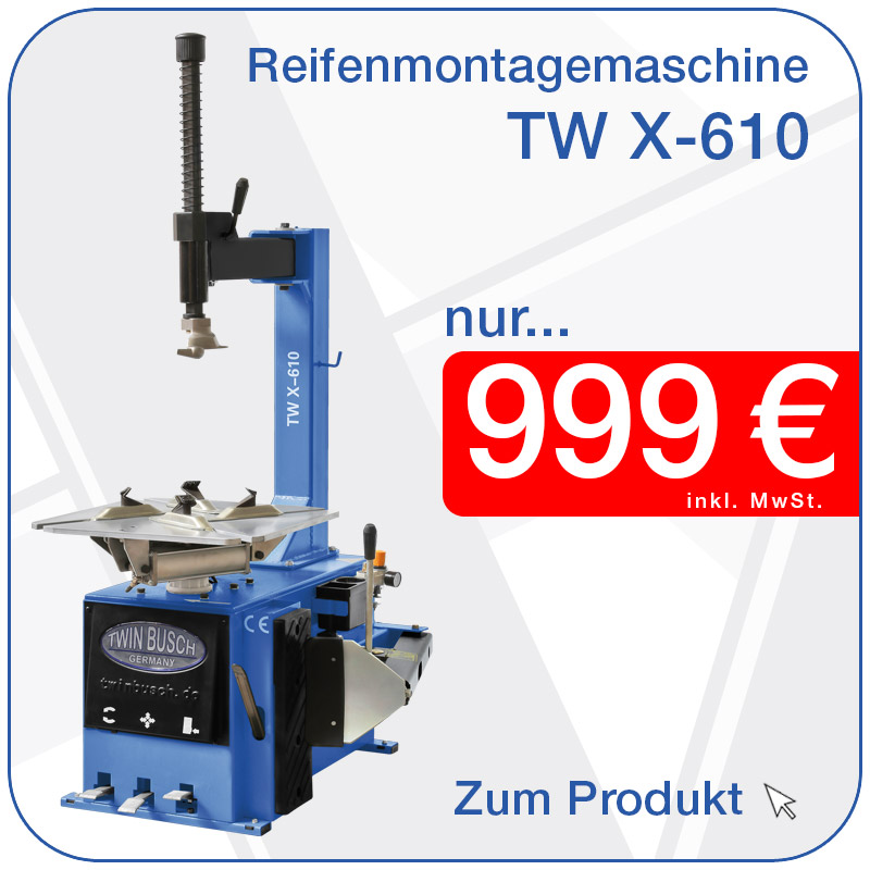 Reifenmontagemaschinen TW X-610 nur 799€ inkl. MwSt.