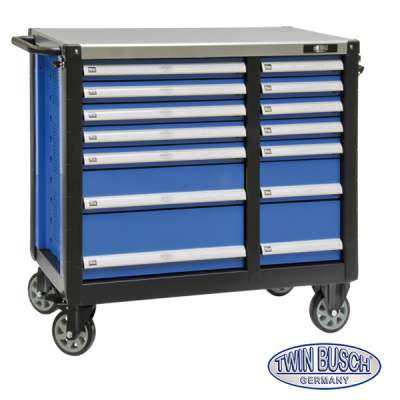 Tool trolley with 14 drawers