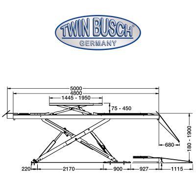 Scissor lift - 4.0 t - Over floor
