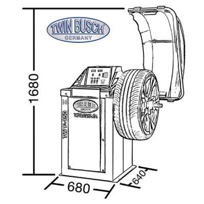 Set - Reifenmontagemaschine TW X-610 + Reifenwuchtmaschine TW F-150