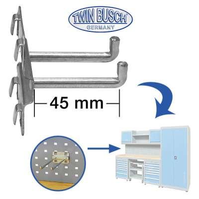 Doppel-Einhängehaken für das Werkstatt-Schranksystem TWWB028