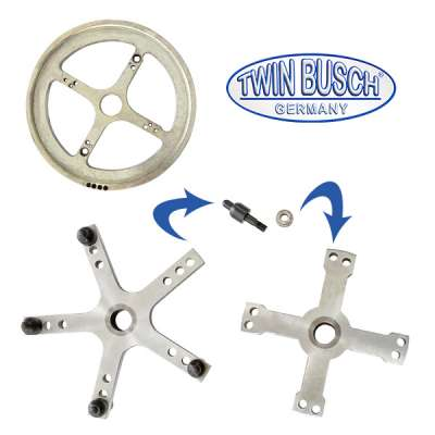 Set of 3 centralising flanges for the truck tyre balancing machine TWF-50T