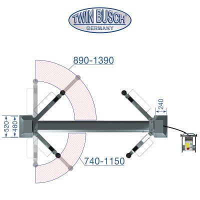 2 post lift 4.2 t - BASIC LINE