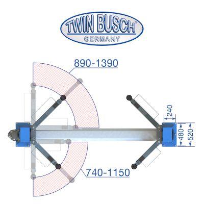 2 Säulen Hebebühne 4.2 t - BASIC LINE autom. Entriegelung