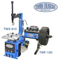 Combination set:  Tyre changer TW X-610 and Wheel balancer manual spin -  semi autom. - TW F-100