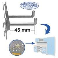 Doppel-Einhängehaken für das Werkstatt-Schranksystem TW WB028