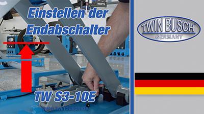 Einstellen der Endabschalter einer Reifenservice-Hebebühne TW S3-10E