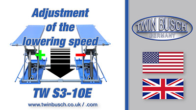 Ajustment of the lowering speed
