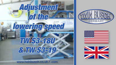 Adjustment of the lowering speed