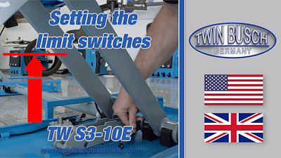 Setting the limit switches of the TW S3-10E