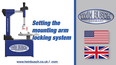 Setting the mounting arm locking system