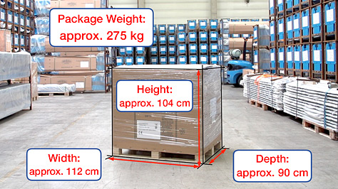 Shipping dimensions and weigh
