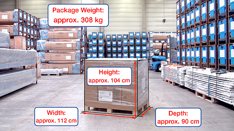 Shipping dimensions and weight